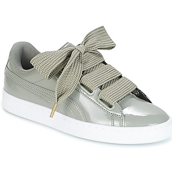 Sapatos Mulher Sapatilhas Puma BASKET HEART PATENT W'S Cinza