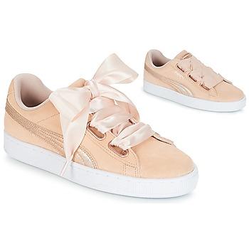 Sapatos Mulher Sapatilhas Puma SUEDE HEART LUNALUX W'S Rosa