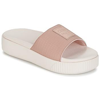 Sapatos Mulher Chinelos Puma PLATFORM SLIDE WNS EP Rosa