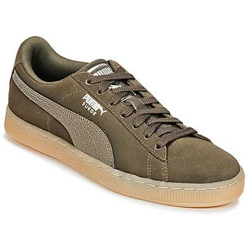 Sapatos Mulher Sapatilhas Puma SUEDE CLASSIC BUBBLE W'S Cáqui