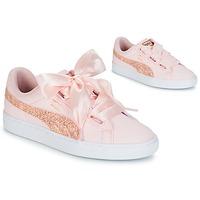 Sapatos Mulher Sapatilhas Puma BASKET HEART CANVAS W'S Rosa