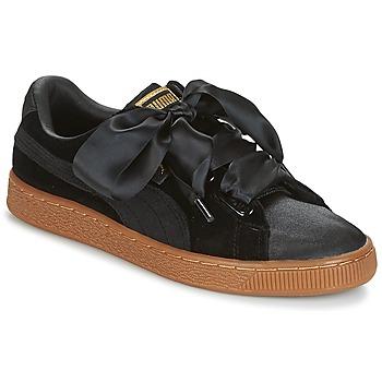 Sapatos Mulher Sapatilhas Puma BASKET HEART VS W'N Preto