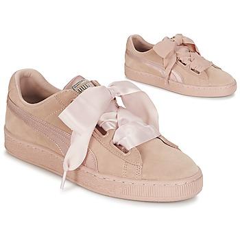 Sapatos Mulher Sapatilhas Puma W SUEDE HEART EP Rosa