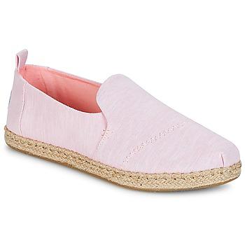 Sapatos Mulher Alpargatas Toms DECONSTRUCTED ALPARGATA ROPE Rosa
