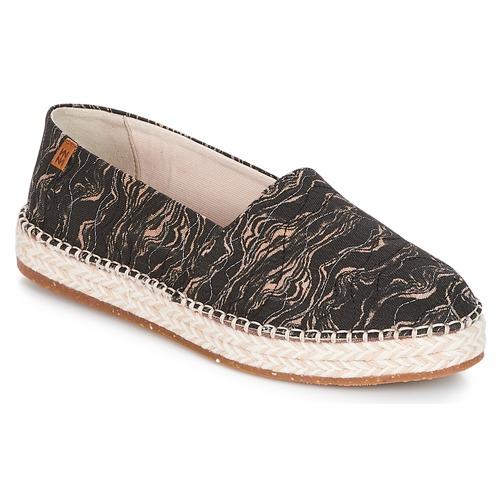 Sapatos Mulher Alpargatas El Naturalista SEAWEED CANVAS Preto / Cinza
