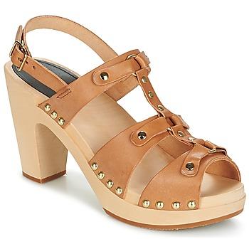 Sapatos Mulher Sandálias Swedish hasbeens BRASSY Camel