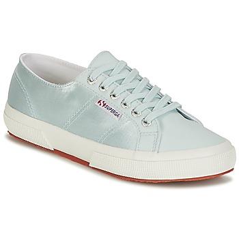 Sapatos Mulher Sapatilhas Superga 2750 SATIN W Azul / Prata