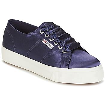Sapatos Mulher Sapatilhas Superga 2730 SATIN W Marinho