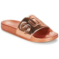 Sapatos Mulher Chinelos Superga 1908 PUNE TU Rosa / Ouro