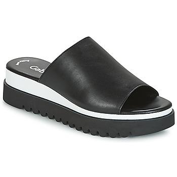Sapatos Mulher Chinelos Gabor SORIEUX Preto / Branco