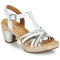 Sapatos Mulher Sandálias Gabor MASTIAR Branco / Prateado