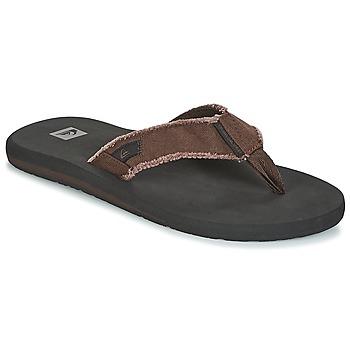 Sapatos Homem Chinelos Quiksilver MONKEY ABYSS M SNDL CTK1 Preto / Castanho