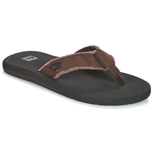 Sapatos Homem Chinelos Quiksilver MONKEY ABYSS M SNDL CTK1 Preto   Castanho 60405f2cc94