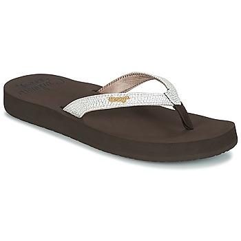 Sapatos Mulher Chinelos Reef STAR CUSHION SASSY Castanho / Branco