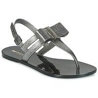 Sapatos Mulher Sandálias Zaxy GLAZE SAND AD Prata / Preto