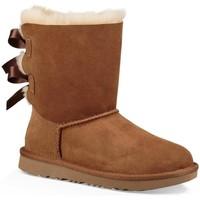 Sapatos Rapariga Botas de neve UGG K BAILEY BOW II castanho
