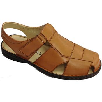 Sapatos Homem Mocassins 30´s Sandálias de dedo do pé fechado para 30s em marrom velcro fecho marrón