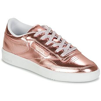 Sapatos Mulher Sapatilhas Reebok Classic CLUB C 85 S SHINE Rosa / Matal