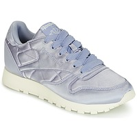 Sapatos Mulher Sapatilhas Reebok Classic CLASSIC LEATHER SATIN Violeta