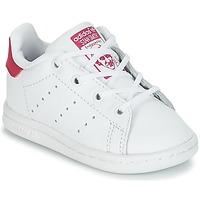 Sapatos Rapariga Sapatilhas adidas Originals STAN SMITH I Branco / Rosa
