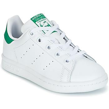Sapatos Criança Sapatilhas adidas Originals STAN SMITH C Branco / Verde