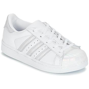 Sapatos Rapariga Sapatilhas adidas Originals STAN SMITH C Branco / Prata