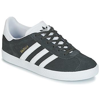 Sapatos Criança Sapatilhas adidas Originals GAZELLE J Cinza