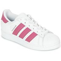 Sapatos Rapariga Sapatilhas adidas Originals SUPERSTAR J Branco / Rosa