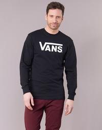 Textil Homem T-shirt mangas compridas Vans VANS CLASSIC Preto