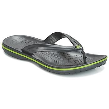 Sapatos Chinelos Crocs CROCBAND FLIP Preto / Verde