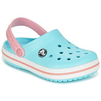 Sapatos Rapariga Tamancos Crocs Crocband Clog Kids Azul / Rosa