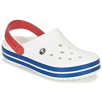 Sapatos Tamancos Crocs CROCBAND Branco / Azul / Vermelho