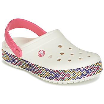 Sapatos Mulher Tamancos Crocs CROCBAND GALLERY CLOG Branco / Rosa