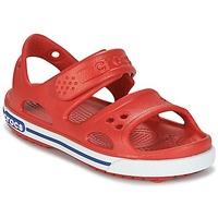 Sapatos Rapaz Sandálias Crocs CROCBAND II SANDAL PS Vermelho