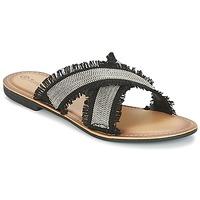Sapatos Mulher Chinelos Moony Mood IRTA Preto / Prateado