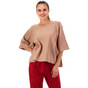 Textil Mulher Tops / Blusas Kocca Camisola Bijae Bege