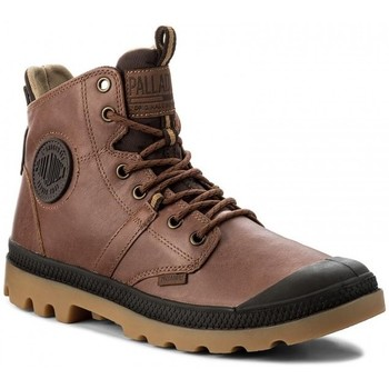 Sapatos Homem Botas baixas Palladium Manufacture Botas Pallaguide Castanho