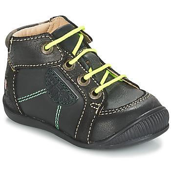 Sapatos Rapaz Botas baixas GBB RACINE Cinza / Preto