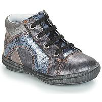 Sapatos Rapariga Sapatilhas de cano-alto GBB ROSETTA Prata / Azul