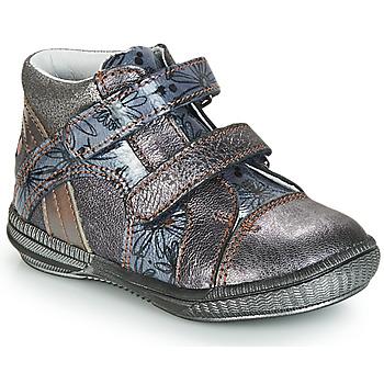 Sapatos Botas baixas GBB ROXANE Cinza / Azul - estampado