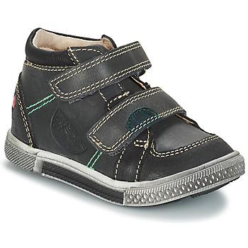 Sapatos Rapaz Botas baixas GBB ROBERT Cinzento-preto
