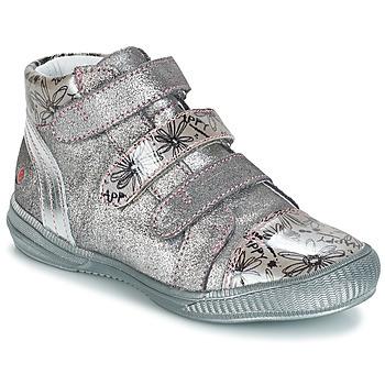 Sapatos Rapariga Botas baixas GBB RAFAELE Cinza / Prata - estampado