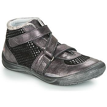 Sapatos Rapariga Sapatilhas de cano-alto GBB RIQUETTE Preto / Prata