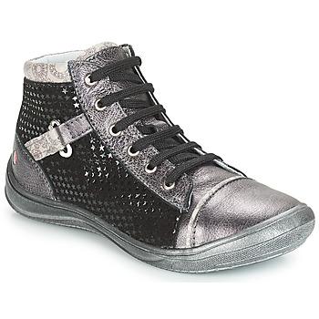 Sapatos Rapariga Sapatilhas de cano-alto GBB ROMIE Cinza / Preto