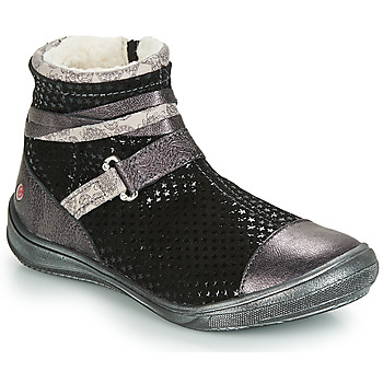 Sapatos Rapariga Botas baixas GBB ROCHELLE Preto / Prata