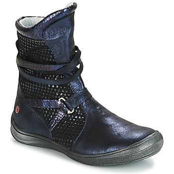 Sapatos Rapariga Botas GBB ROSANA Azul / Preto