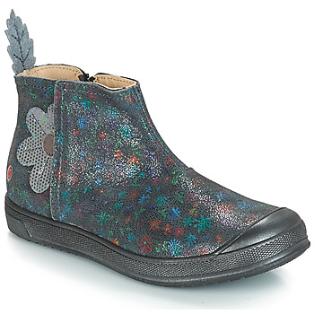 Sapatos Rapariga Botas GBB ROMANE Cinza / Estampado