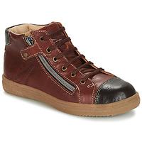 Sapatos Rapaz Sapatilhas de cano-alto GBB NICO Castanho