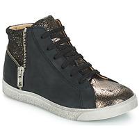 Sapatos Rapariga Sapatilhas de cano-alto GBB CARLA Preto / Bronze