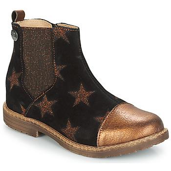 Sapatos Rapariga Botas baixas GBB LEONTINA Preto / Bronze
